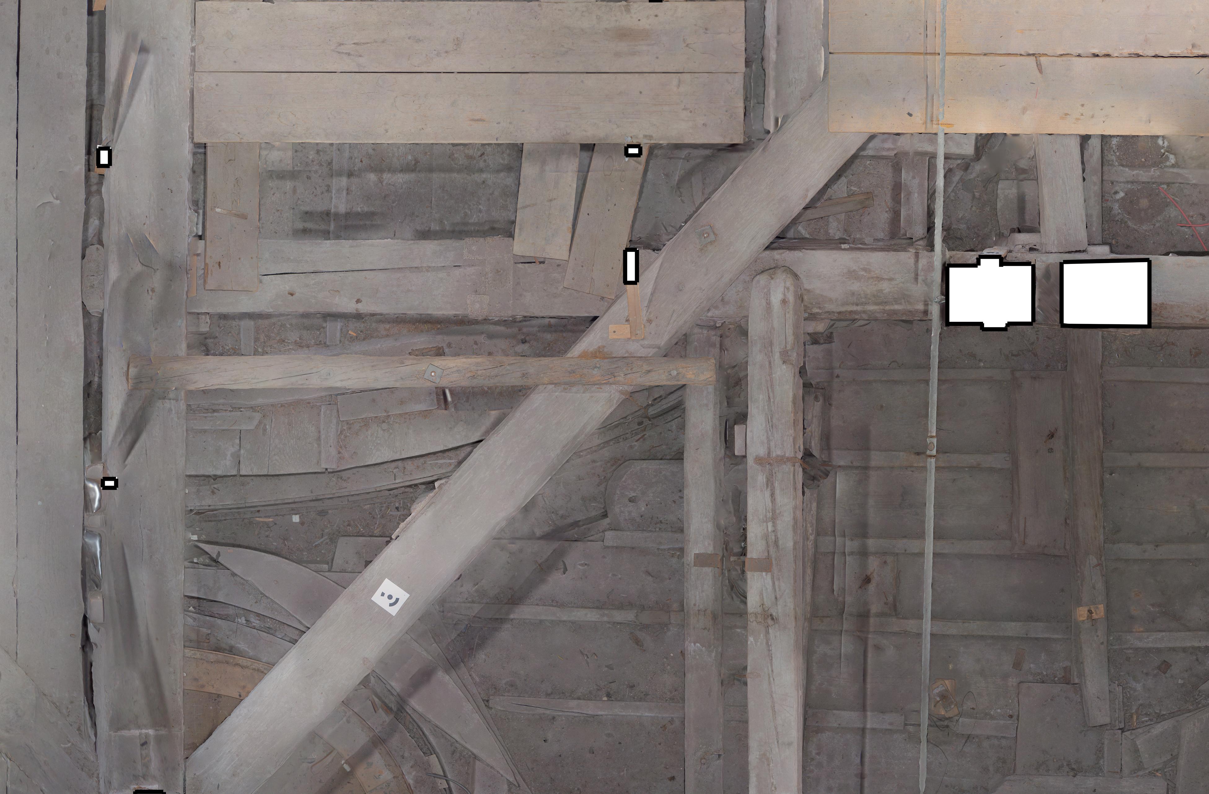 Rilievo fotogrammetrico soffitta Palazzo Ducale di Venezia  fotoraddrizzamento del piano orizzontale (livello 1)