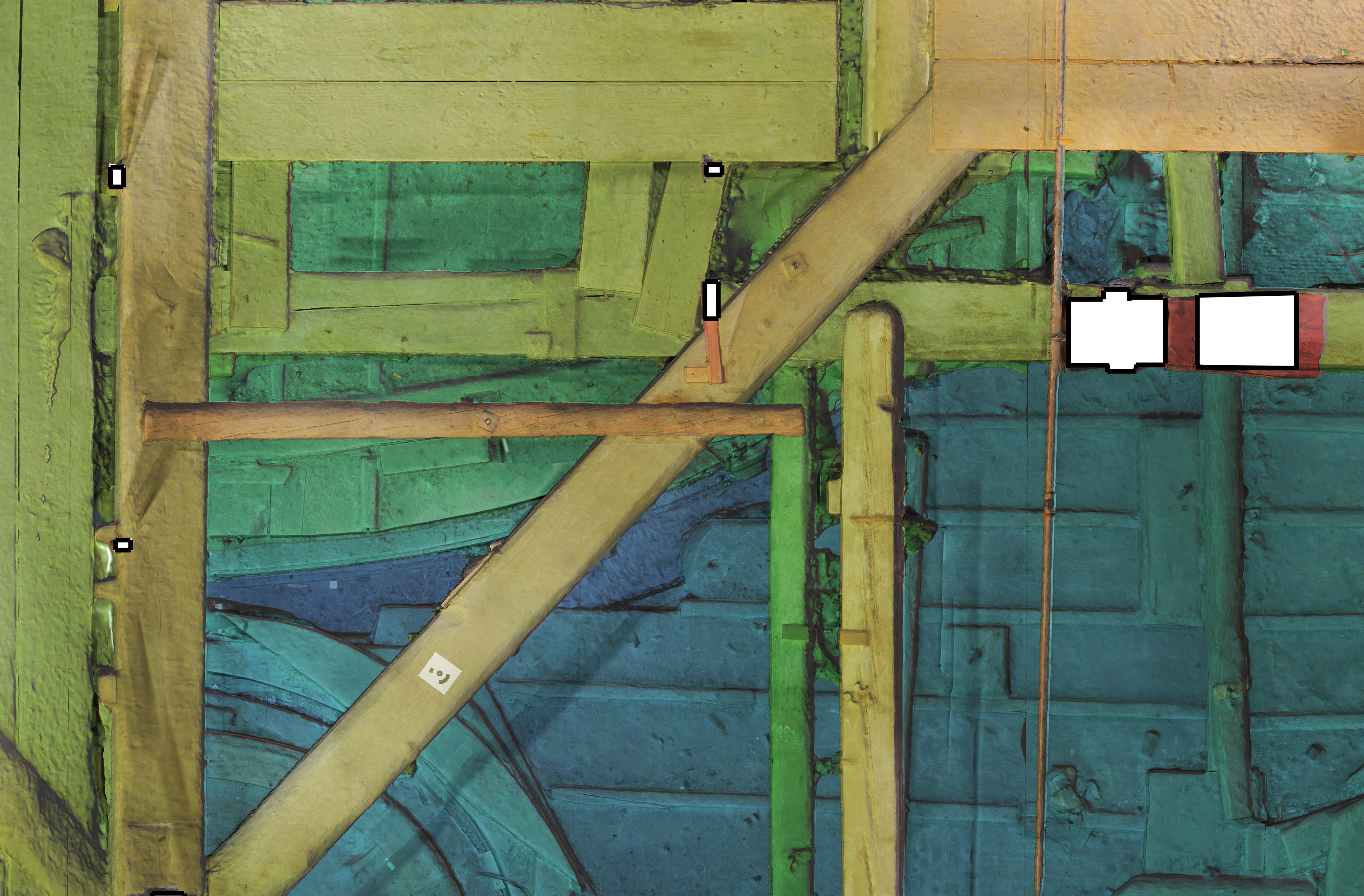 Rilievo fotogrammetrico soffitta Palazzo Ducale di Venezia  DEM del piano orizzontale (livello 1)