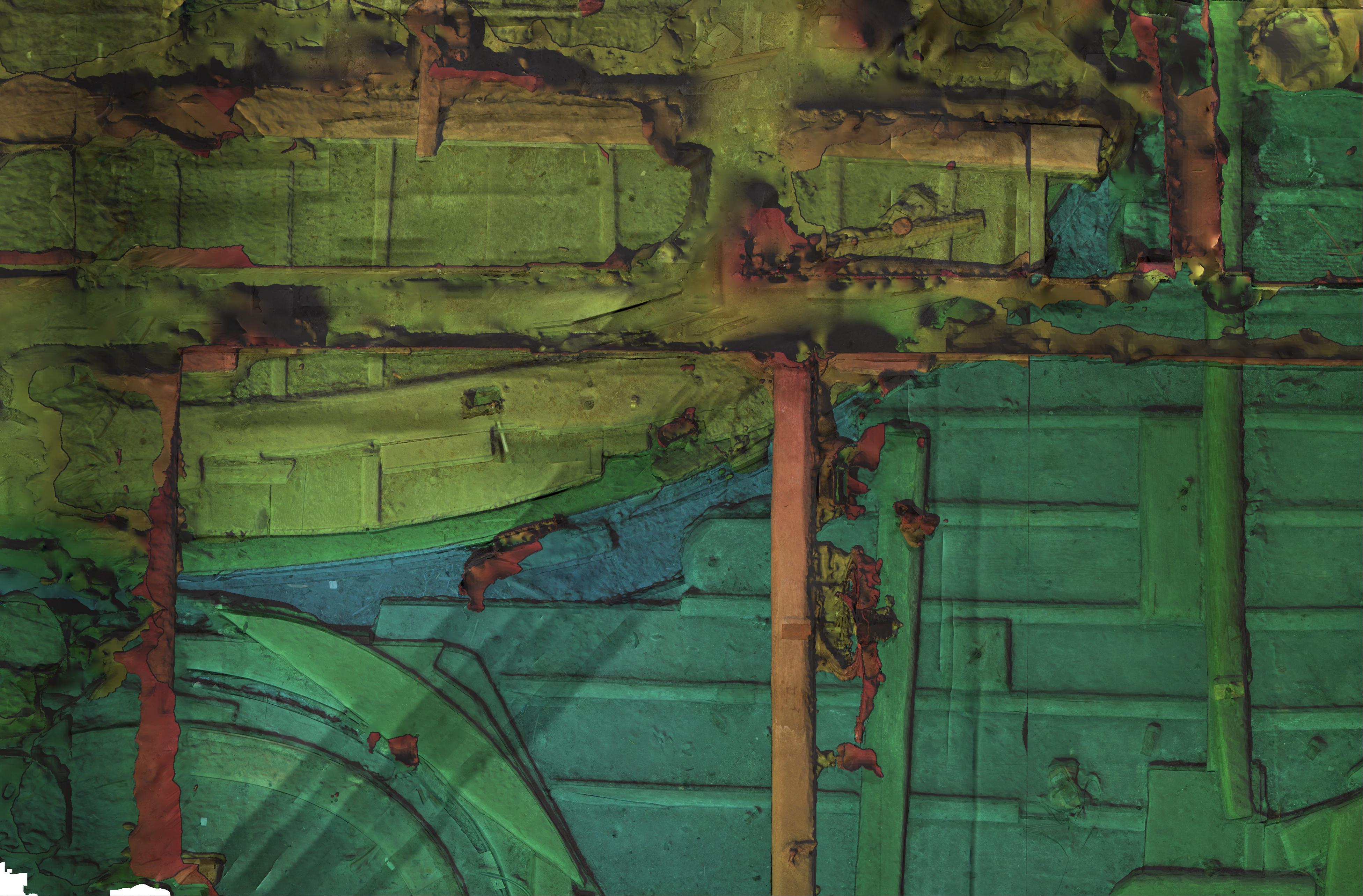 Rilievo fotogrammetrico soffitta Palazzo Ducale di Venezia  DEM del piano orizzontale (livello -1)