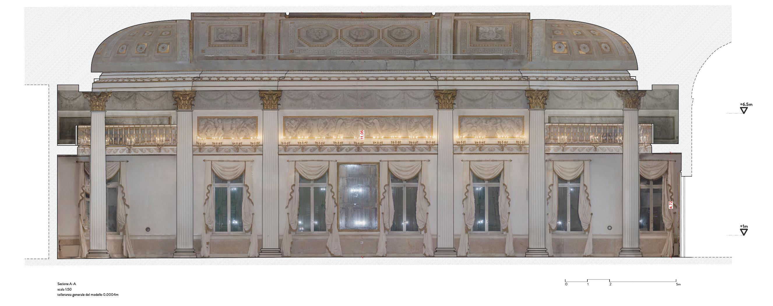 Rilievo fotogrammetrico Salone ballo Museo Correr