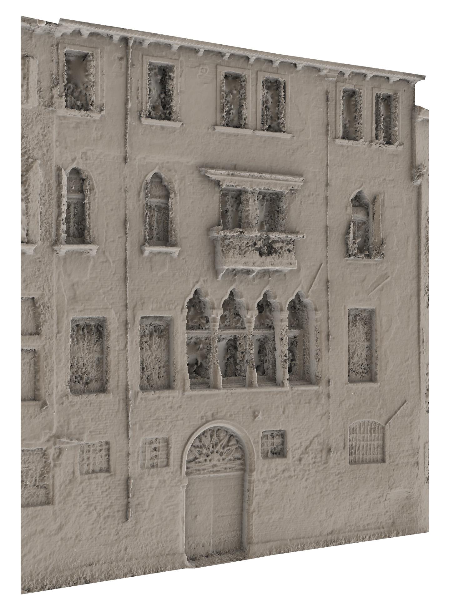 Rilievo fotogrammetrico facciata canale - mesh