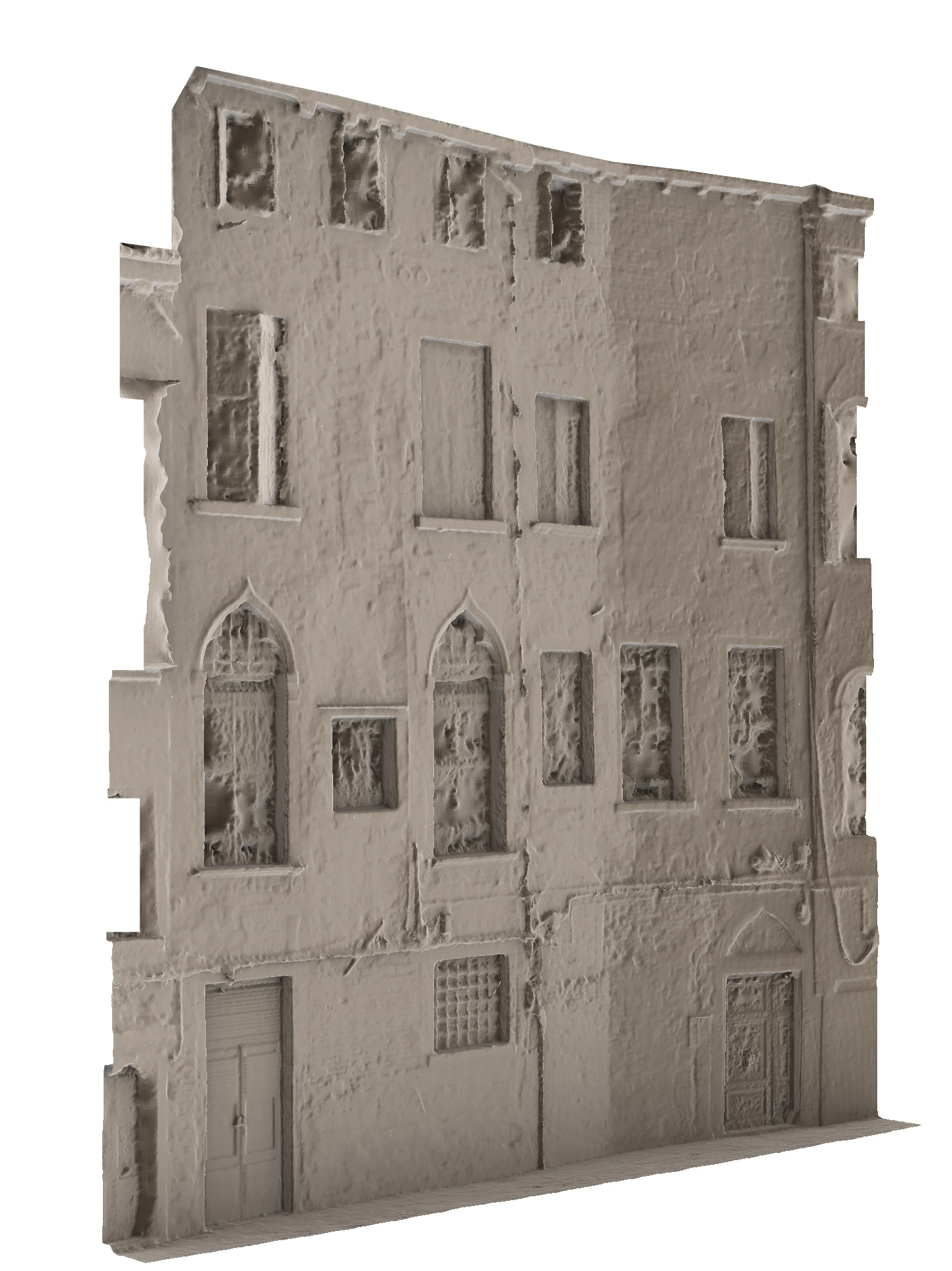 Rilievo fotogrammetrico facciata calle - mesh